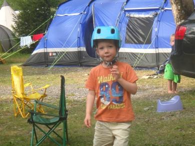 Tent - check. Helmet - check. Potty - check!