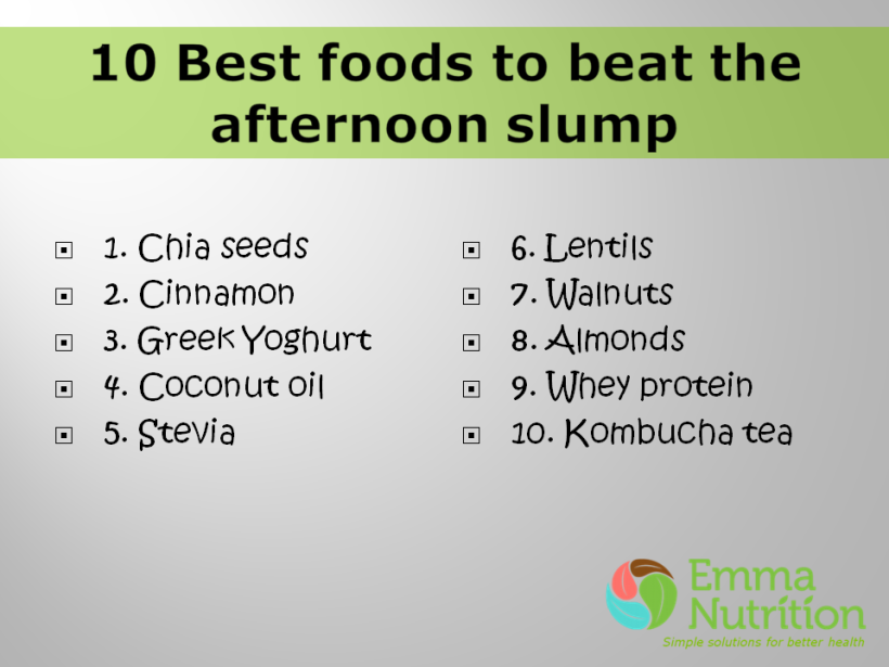 10 Best foods to beat the afternoon slump